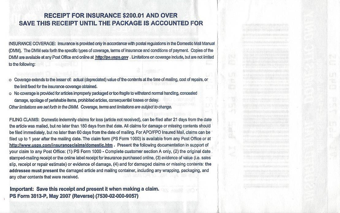 The back side of a USPS insurance slip (click to enlarge)