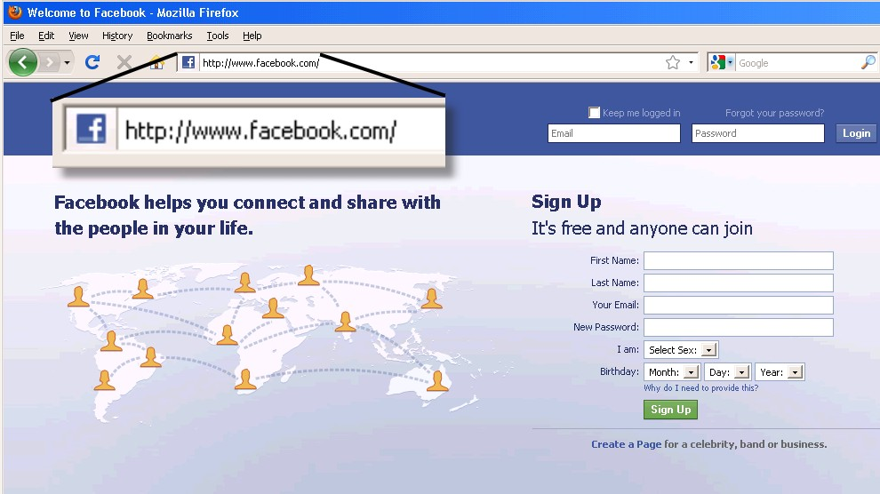 facebook login in facebook login in