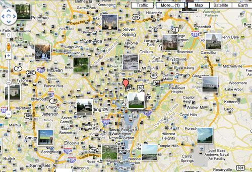 Photos pinned to where they were taken. Supported with geotagging features.