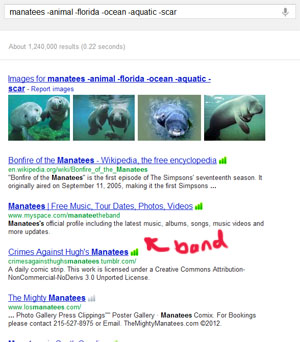 searching for <i>manatees -animal -florida -ocean -aquatic -scar</i>
