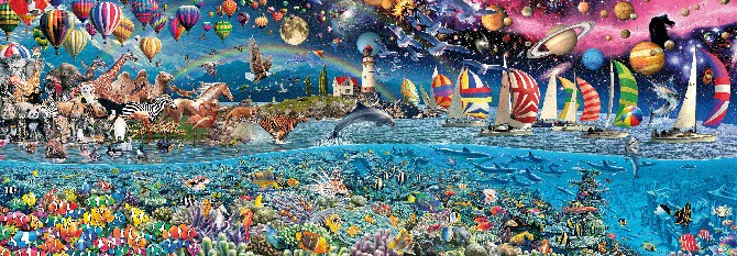 This puzzle is 15 feet by 5 feet, 24,000 pieces