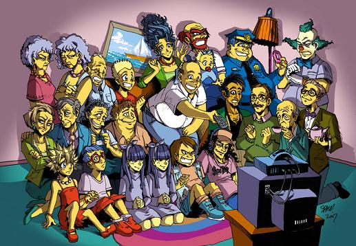 (<a href=http://spacecoyote.deviantart.com/art/The-Simpsonzu-46036660>source</a>) Because the artist was credited for his work, this pic of the Simpsons drawn in Anime style received over 4 million views and led to huge job opportunities for the artist.