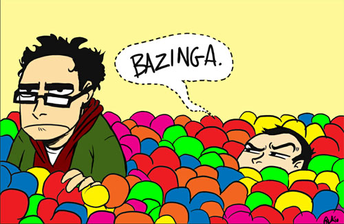 (<a href=http://behindtheveil.deviantart.com/art/Ballpit-Shenanigans-154398097>Source</a> A brilliant and humorous fan piece for one of my favorite shows: Big Bang Theory. Link to the artist to support their work and encourage them to do more!