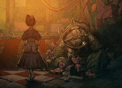 Beautiful Bioshock art. Includes a tutorial on how it was made <a href=http://www.pixiv.net/member_illust.php?mode=manga&#038;illust_id=25735143>here</a>
