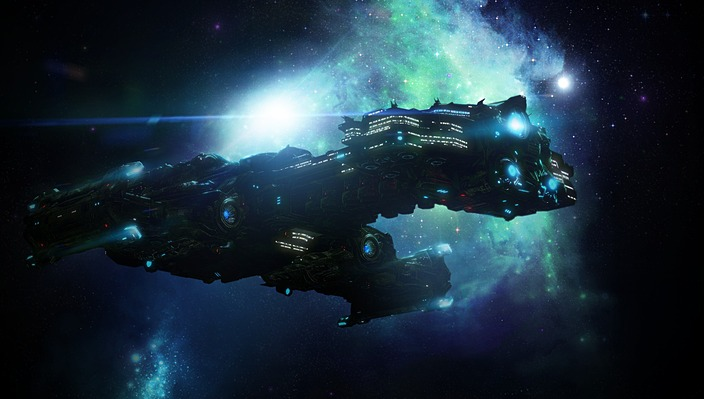 A Battlecruiser from Starcraft 2. Just mentioning the game or Blizzard is enough for famous public work.