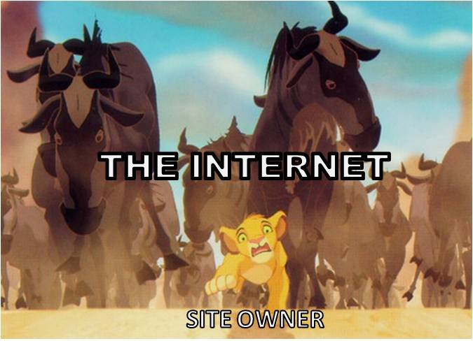 Some sites can't handle the sudden traffic. (pic From Disney's 'The Lion King')