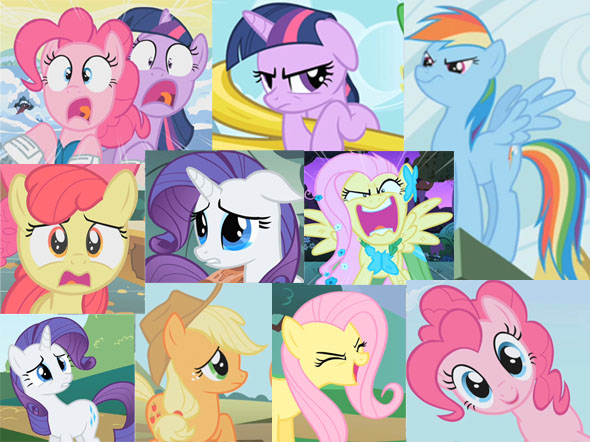 Various expressions from the show