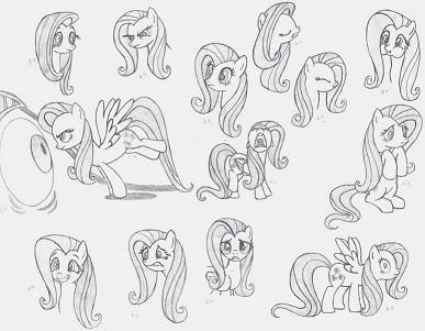 This is just the one I did for Fluttershy, but the others are in my Deviantart gallery (click here to go to my DA page)