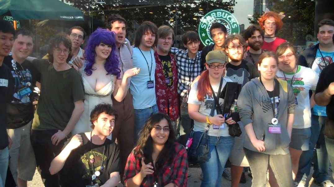 An average group of people at Brony-con