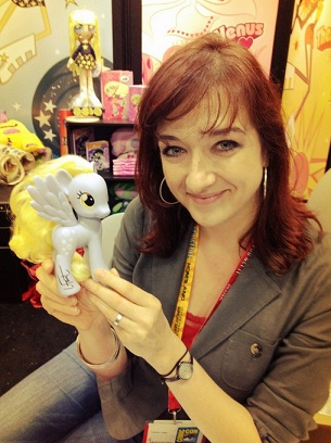 Lauren Faust is working to change the idea that girl characters have to all be vain, weak, and stupid. [<a href=http://sketchcoyote.deviantart.com/art/Lauren-Faust-signed-my-Comic-Con-Derpy-Exclusive-314979257>Source</a>]