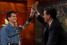 Robotic arm giving a hi-five