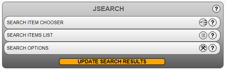The Jsearch control in its minimized form