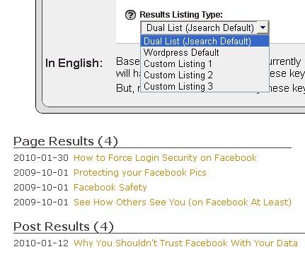 Jsearch default