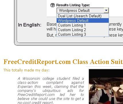 Wordpress default