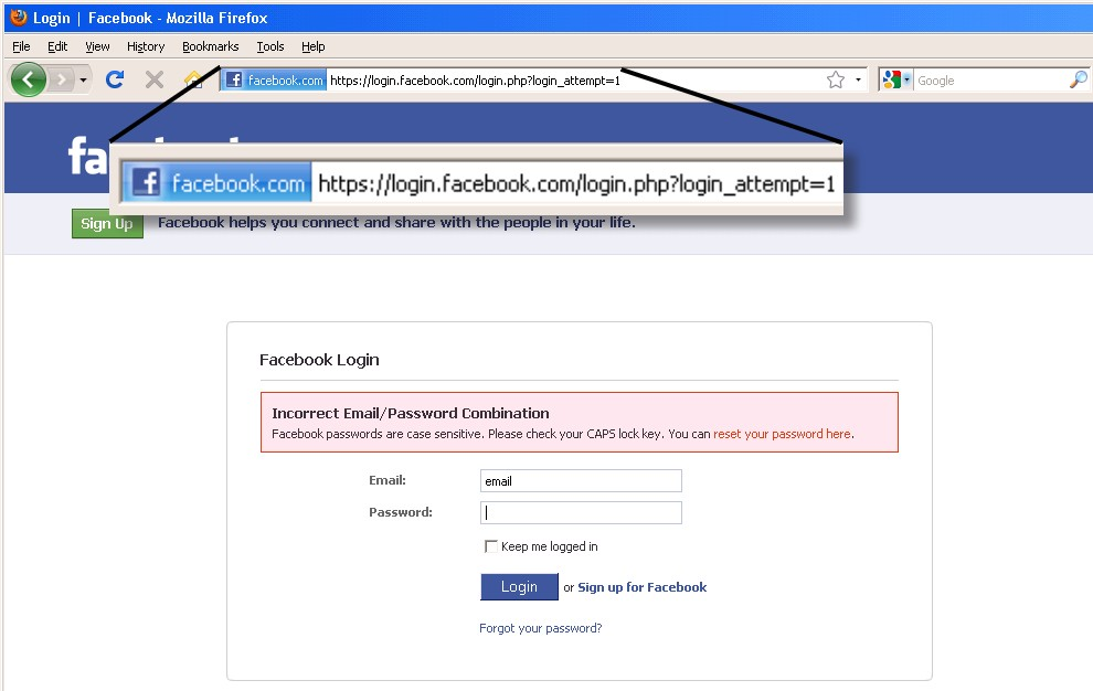 web facebook log in